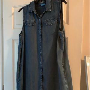 J. McLaughlin Denim Dress SZ XL EUC